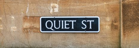 Street sign - Quiet St. Bath North Somerset United Kingdom royalty free stock photography
