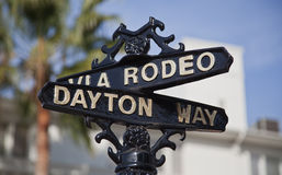 Street sign for Rodeo Drive, Beverly Hills, CA Stock Photography
