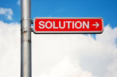 Street sign - Solution Stock Images