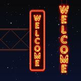 Street Sign That Says Welcome. Royalty Free Stock Photography