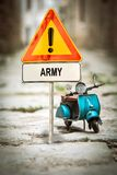 Street Sign to Army. Street Sign the Direction Way to Army stock photo