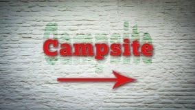 Street Sign to Campsite. Freedim royalty free illustration