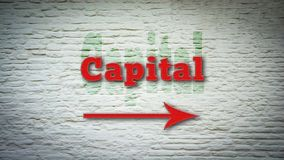 Street Sign to Capital. Street Sign the Direction Way to Capital royalty free stock image