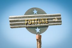 Street Sign to Fortune royalty free illustration