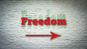 Street Sign to Freedom stock images