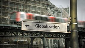 Free Street Sign To Globalization Stock Image - 214011201