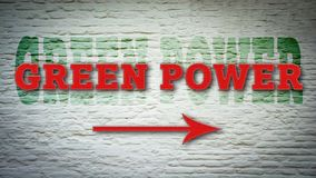 Street Sign to Green Power. Street Sign the Direction Way to Green Power royalty free stock images