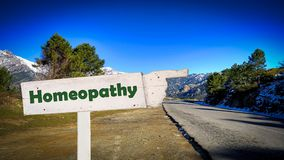 Street Sign to Homeopathy royalty free stock photo