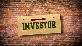 Street Sign to Investor. Street Sign the Direction Way to Investor royalty free stock images