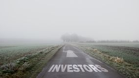 Street Sign to Investors. Street Sign the Direction Way to Investors stock image