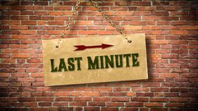 Street Sign to Last Minute. Street Sign the Direction Way to Last Minute royalty free illustration