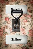 Street Sign to Success versus Failure. Street Sign the Direction Way to Success versus Failure stock photos