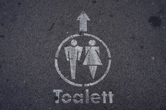 Street sign. Toilet street sign at Budapest, Hungary Royalty Free Stock Images