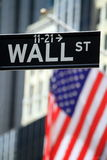 Street sign for Wall Street Stock Photo
