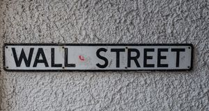 Street sign of Wall Street Stock Photography