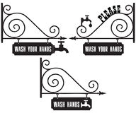 Street sign Wash Your Hands. Street sign with the request to wash hands. Please Wash Your Hands vector illustration