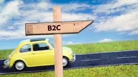 Street sign the way to B2C