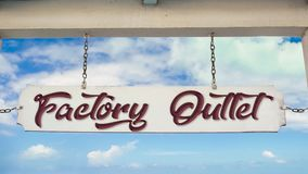 Street sign to factory outlet