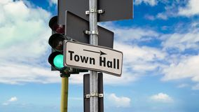 Street Sign to Town Hall