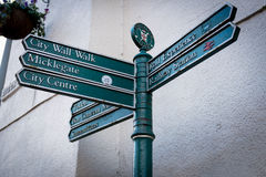 Street sign in York town of United Kingdom Royalty Free Stock Photo