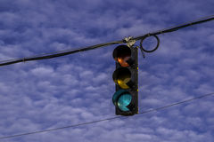 Street signal. Royalty Free Stock Photo