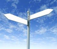 Street signpost double blank. Signpost street double blank on blue sky background vector illustration