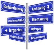 Street Signs Administrative Procedure Stock Photography