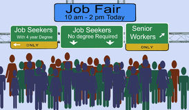 Job Fair Signs and Advertising Royalty Free Stock Photo