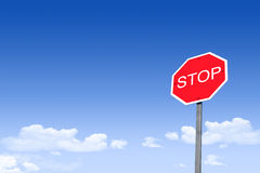 Street Signs _Alto. A stylized image of a Stop sign on a partially blue / cloudy sky Royalty Free Stock Photos