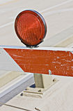 Street signs and barricades Royalty Free Stock Photography