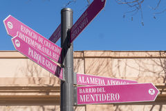 Street signs in the city of Cadiz, Andalusia, Spain Stock Photo