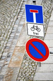 Street signs in Germany Royalty Free Stock Photography