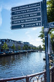 Street signs in Haarlem the Netherlands Royalty Free Stock Images