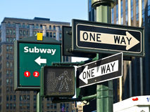 Street Signs in Manhattan Royalty Free Stock Photo