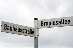 Street signs near Bauhaus Royalty Free Stock Images