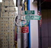 Street signs in New York Royalty Free Stock Images
