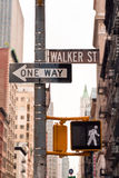 Street signs in New York SOHO, USA Royalty Free Stock Photography