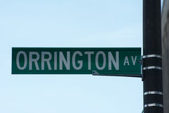 Street signs. Orrington ave, Evanston Royalty Free Stock Images