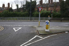Street signs on a road in England. Street signs on a road in Chester stock photography