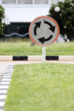 Street signs roundabout. The Street signs roundabout on the road Royalty Free Stock Photo