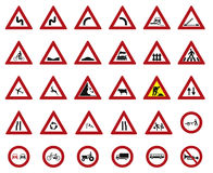 Street Signs  set, 30 Signs Stock Photos