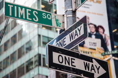 Street signs Times Square Stock Image