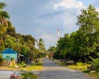 Street in Sihanoukville, Cambodia. Royalty Free Stock Photo