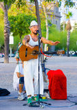Street singer Royalty Free Stock Photo