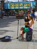 Street singer in Camden Lock district, London Royalty Free Stock Photos