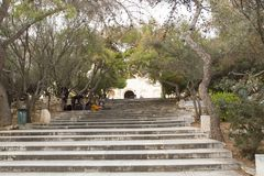Stairs to Pantheon on Acropolis