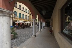 Street in Sirmione, Italy royalty free stock photography
