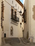 Street of  Sitges (Spain) Royalty Free Stock Photo