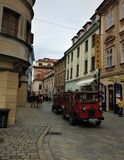 Street situation in Bratislava City. Stock Images
