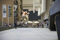 Street skater in Barcelona, Spain Stock Image